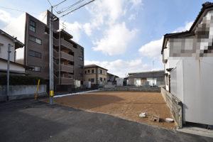 広島市佐伯区五日市中央1丁目住むりえ建築条件付き土地の現地画像