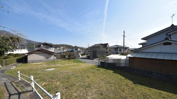 廿日市市上平良(可愛が丘団地)の注文住宅用土地の全景画像
