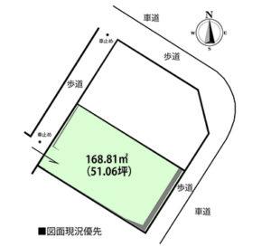 廿日市市宮園3丁目注文住宅用土地の区画図