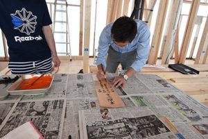 広島市佐伯区三宅3丁目の注文住宅建築現場行われた手形式で棟札記入B
