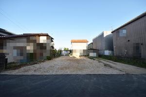 広島市佐伯区三宅5丁目の注文住宅用地の前面道路からの正面外観