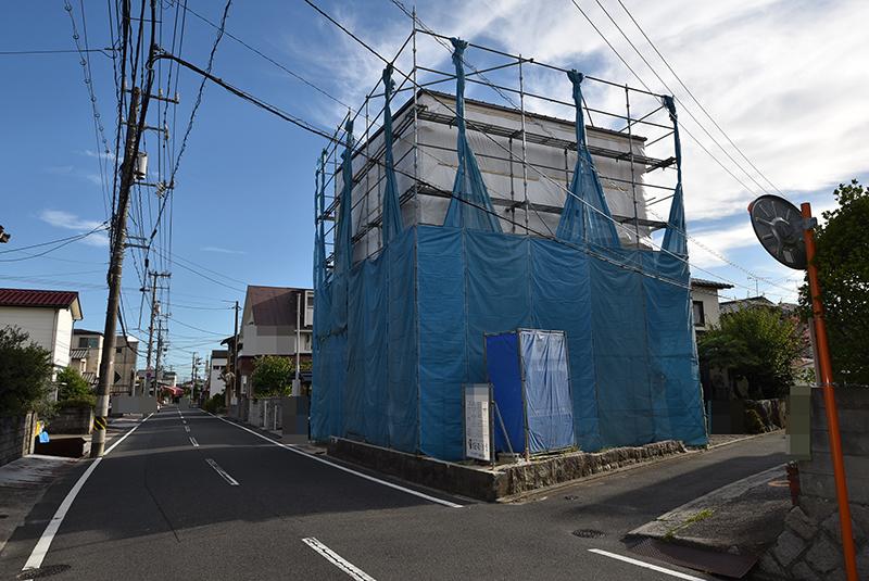 広島市佐伯区利松1 注文住宅A現場外観の様子2018.0827