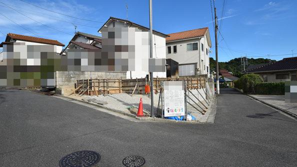 広島市佐伯区利松注文住宅B現場の基礎工事の様子を撮影2018.0827