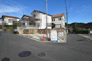 広島市佐伯区利松注文住宅B現場の基礎工事の様子を北側から撮影2018.0827