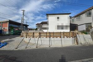 広島市佐伯区利松注文住宅B現場の基礎工事の様子を西側から撮影2018.0827